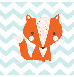 seamless fox pattern vector image