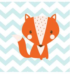 Seamless fox pattern vector
