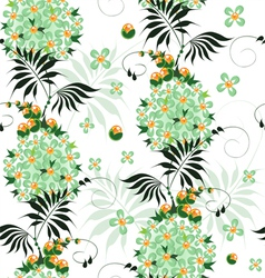 seamless pattern stylized ethnic flowers vector image