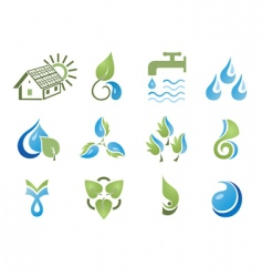 set of design elements enviro vector image
