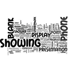 showing word cloud concept vector image
