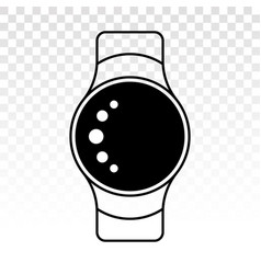 Smartwatch smart watch flat icon for apps vector