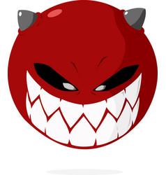 smile evil vector image