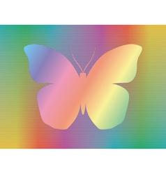 spectrum butterfly vector image