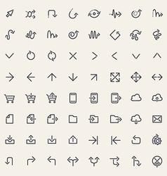 Stroke Arrow Icons vector