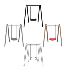Swing seat icon in cartoonblack style isolated on vector