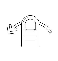 Swipe horizontally line icon vector