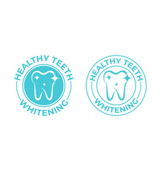 teeth whitening tooth icon healthy safe tooth vector image