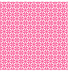 Tile pattern with pink print on white background vector