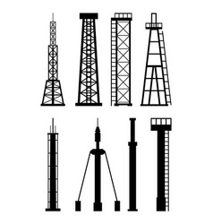 Transmission cellular tower antenna silhouette vector