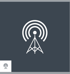 transmiter related glyph icon vector image