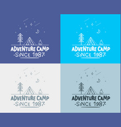 trendy camping label hand drawn t shirt print vector image