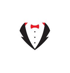 tuxedo exclusive template icon vector image