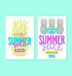 Two summer sale templates vector