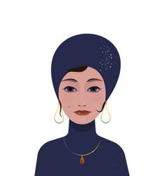 Beautiful gypsy woman soothsayer ar-deco vector
