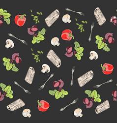 food pattern vegetables vector image vector image