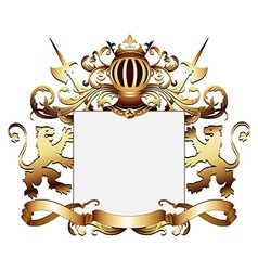 ornate heraldic frame vector image vector image