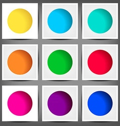 set of colored round banners vector image