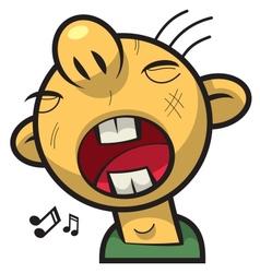 singing boy vector image vector image