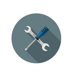 spanner and screwdriver vector image