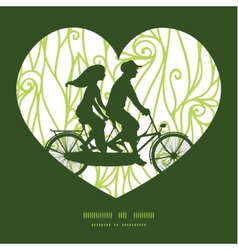 abstract swirls texture couple on tandem bicycle vector image vector image