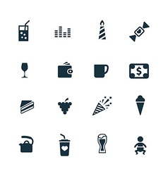 cafe icons set vector image