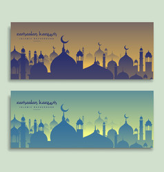 Eid and ramadan festival banners vector