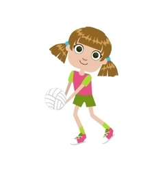 Girl playing volleyball vector