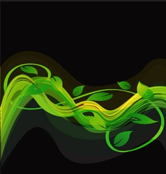 Green abstract leaves background vector image vector image