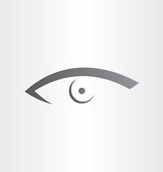 human eye stylized icon vector image vector image