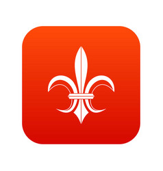 lily heraldic emblem icon digital red vector image
