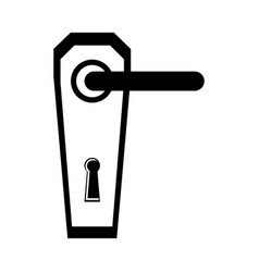 modern door handle icon vector image