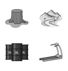 Oil refining sport and other monochrome icon in vector