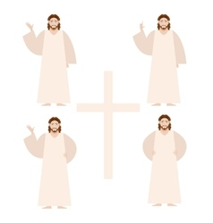 Set of Jesus vector image vector image