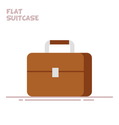 suitcase or briefcase isolated on white background vector image vector image