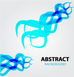 Abstract background blue frie vector image