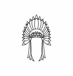 Indian headdress icon outline style vector image vector image
