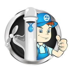 plumber to repair symbol vector image