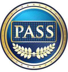 vip pass icon vector image vector image