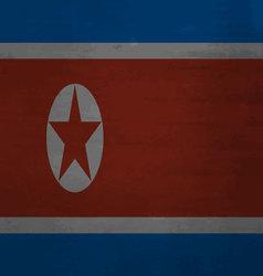 Flag of North Korea messy vector image vector image