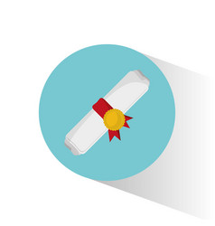 Roll certificate education graduation vector