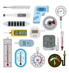 Thermometrs set vector image