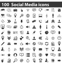100 social media icons vector