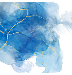 Abstract blue liquid watercolor background vector