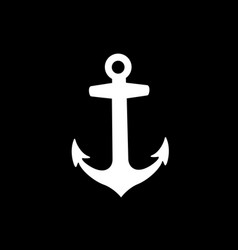 Anchor armature icon isolated on black background vector