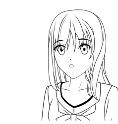 anime manga girl vector image