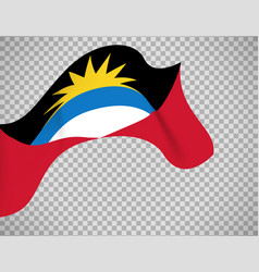 antigua and barbuda flag on transparent vector image