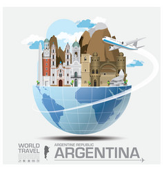 Argentina Landmark Global Travel And Journey vector image