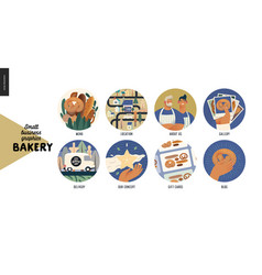 Bakery - small business graphics - web icons vector