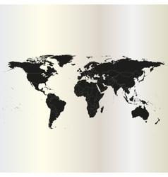 Black Political World Map vector image